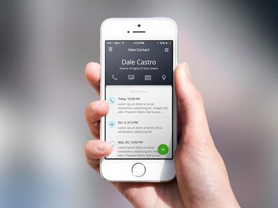 Contact Information ios mobile ui ux contact call sms email location contact information latest activity