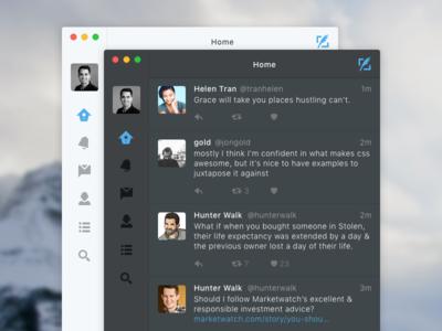 Twitter Mac App theme light dark ui mac twitter