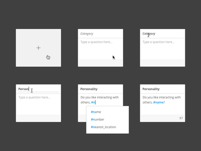 Interactive States states interation text dropdown input ux ui