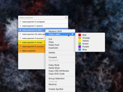 Sketch Color Label Concept organization panel list layer colors ui request feature sketch