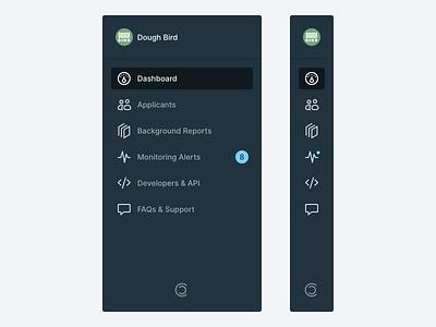 Sidebar Navigation app web app icons navigation design ui