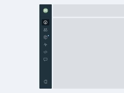 Sidebar Navigation Animation motion website principle icons design product design ux animation ui