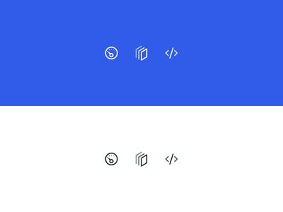 Navigation Icons - Hover Effect hover state logo illustration motion icons principle website animation ui