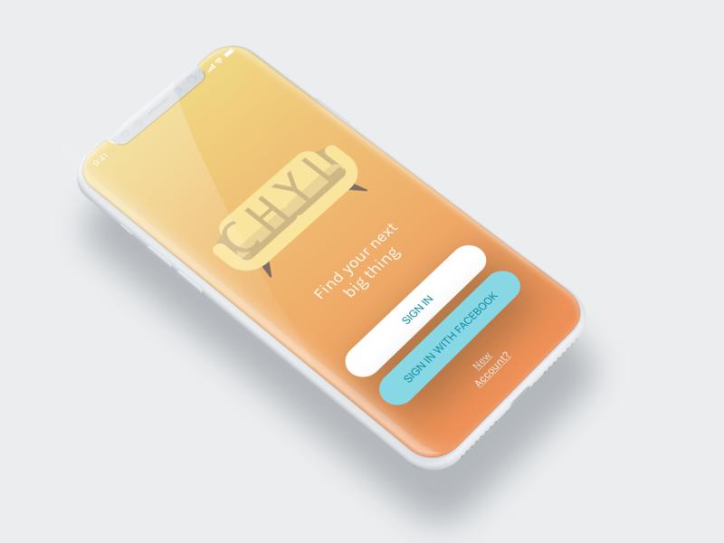 CHYL iphoneX branding design mockup app