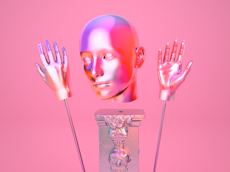 Diving into Arnold arnold abstract shiny chrome c4d