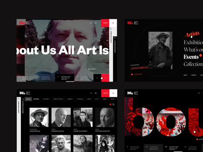 MMO - Modern Art Museum Website Concept