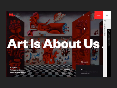 MMO - Website Concept Animation web design flair digital content delivery dark ui typography ui design platform design abstract design concept interactions clean minimal design artsy modern website museum of art animation ui ux ui animation