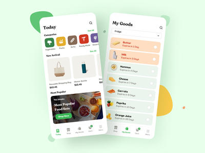 Sustainable Consumption E-System - Uniter ui  ux product design zerowaste app design vegan shopping app platform design mobile light interface app uiux minimal clean design food app app ui
