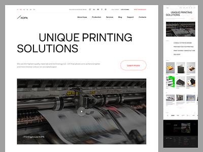 Kopa Website contemporary website webdesign printing portfolio branding content delivery light interface typography ux ui minimal clean design