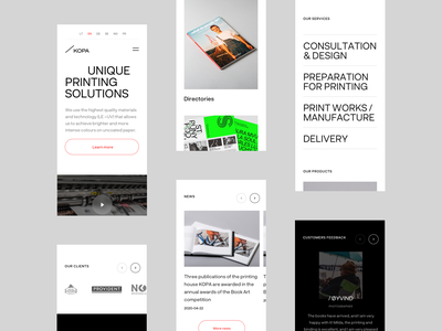 KOPA Mobile printing house branding contemporary content delivery design mobile typography light interface ux ui minimal clean design kopa
