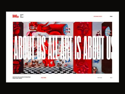 MO Modern Art Museum Website Concept ui website concept modern art museum typography minimal minimal clean design art gallery
