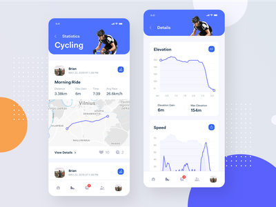 Active Lifestyle - App sport app clean minimal design ui ux fitness exercise planner social activity platform location tracker clean bright interface mobile activity tracker
