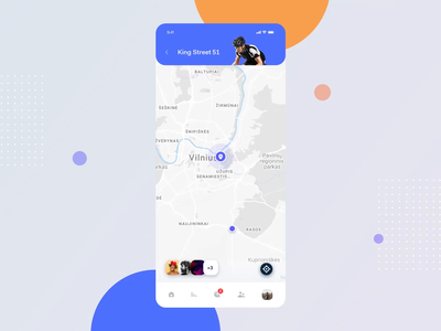 Active Lifestyle - Screens Animation sports app product design animation ui ux sport app social activity platform mobile location tracker fitness exercise planner clean minimal design clean bright interface activity tracker