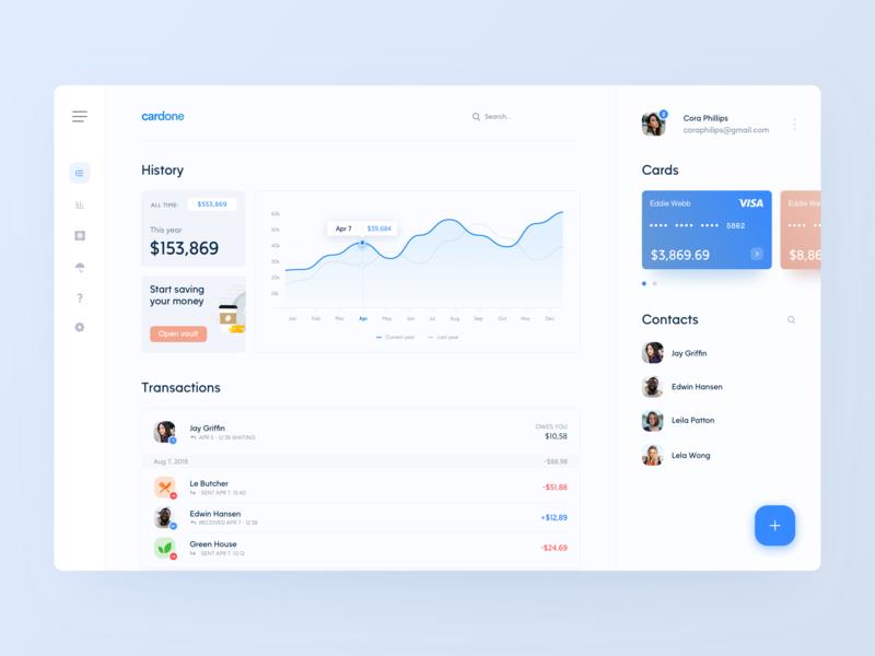 Banking Dashboard web design flair digital banking app financial ux ui transactions statistics payments graph minimal clean design finance dashboard chart card app analytics