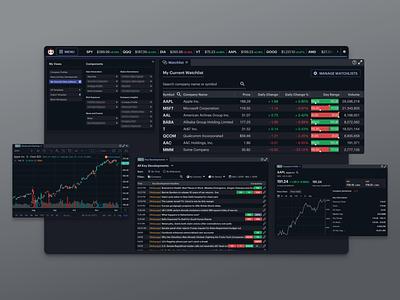 Web-based Financial Terminal app ux web app product design interaction web design