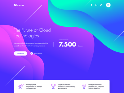 Kellex - WordPress Theme vector ux ui business theme colourful corporate themeforest wordpress website web design web