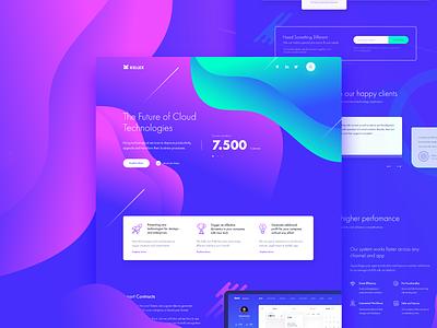 Kellex - WordPress Theme website theme business vector ui ux corporate wordpress colourful cloud app themeforest web design web
