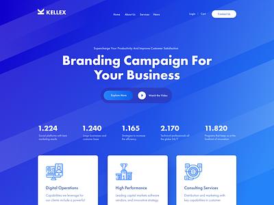 Kellex - WordPress Theme vector company website business wordpress ux theme themeforest corporate web web design