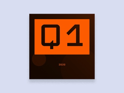 2020 Q. ONE - Playlist Art orange album art cover design illustration twitch stream exercise gold music