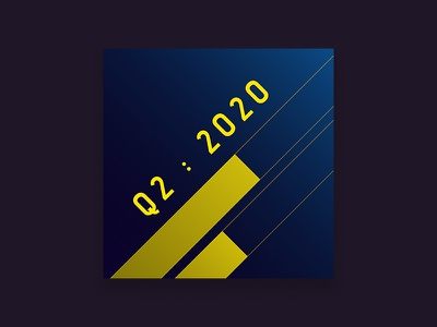 2020 Q. TWO - Playlist Art spotify exercise design music art cover at playlist album blue