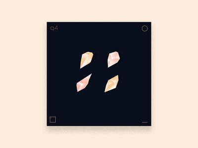 2019 Q. FOUR- Playlist Art music gold rose exercise stream twitch illustration design cover art album