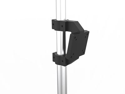 Monitor pole bracket design for 3d printing rendering product design industrial design design