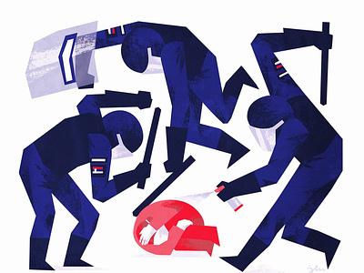 Belgrade protest 2020 acab illustration protest police brutality