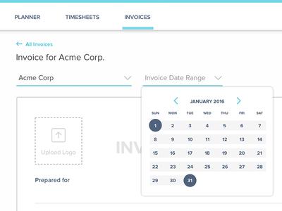 Invoice Date Range