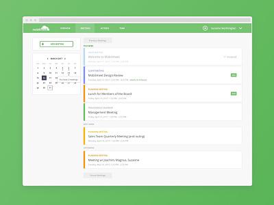 This Week's Meetings calendar app web list meeting