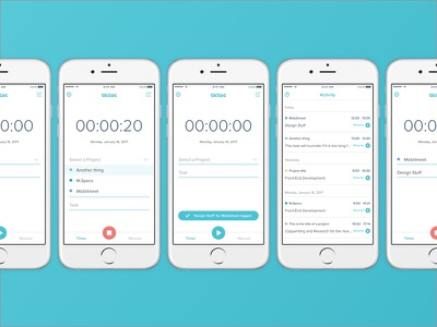 Tictoc Timer mobile app tracking time timer