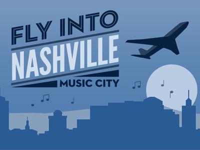 Nashville airport website header