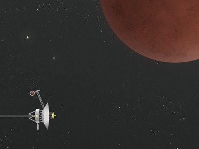 Voyager And Mars voyager mars space