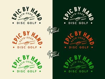 EBH Colors wip custom type disc golf badge vintage branding