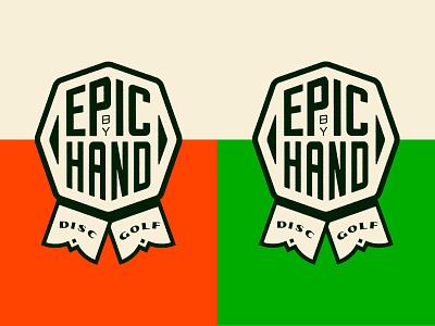 Epic Rosette rosette custom type disc golf badge branding typography