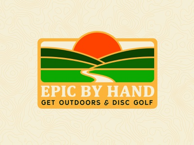 Epic By Hand Sunset park scenery retro badge design outdoors disc golf