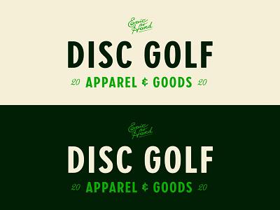 Disc Golf Type badge typography branding disc golf