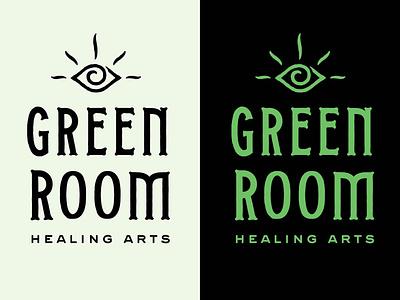Green Room tarot typography logo custom type branding