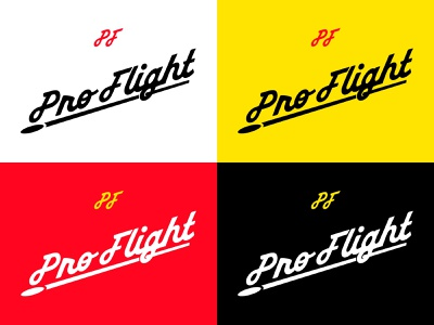 ProFlight Wordmark retro script wordmark custom type disc golf branding typography