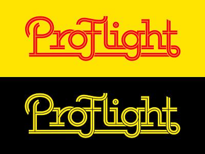 ProType retro branding disc golf typography custom type