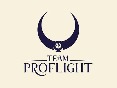 """Proflight """"Fleet"""" logo disc golf vector owl logo disc branding"""