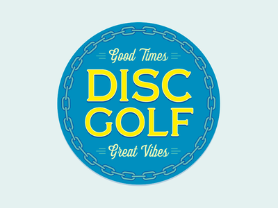 Disc golf button!