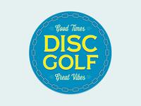 Disc golf button!