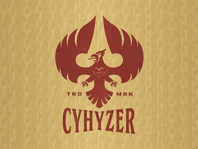 Cyhyzer Ascend bird disc golf vector branding badge