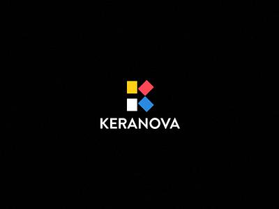 KERANOVA arrow symbol tiles logo