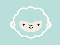 pennyknot sheep friend stickers