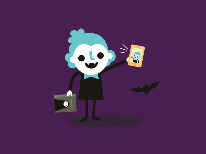 scary statistics about vampire girls infographic dracula bat selfie vampire