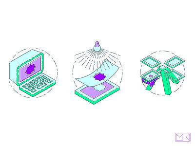 Screen-Printing Illustrations vector logo illustrator illustration icon design art