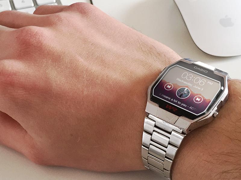 Just a concept smartwatch concept watch wristwatch ui design ux design music player iwatch