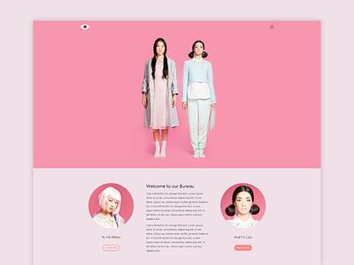 Mona/Lisa Bureau Demo lisa mona rose pink wordpress theme premium portfolio openmarco agency