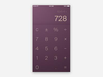 DailyUI - Day 004 calculator 004 daiyui